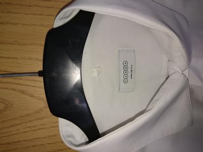 košile bílá s kr. rukávem vel. 47/48, 130 cm přes prsa