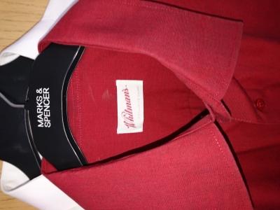 košile s kr. rukávem vel. XXL tm. červená